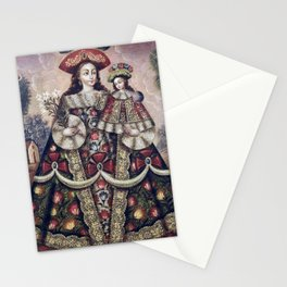 Cuzco School, Peru The Virgin of the Pilgrims and Child Stationery Cards