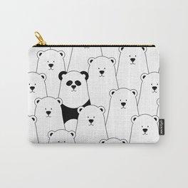Polar bear and panda cartoon Carry-All Pouch