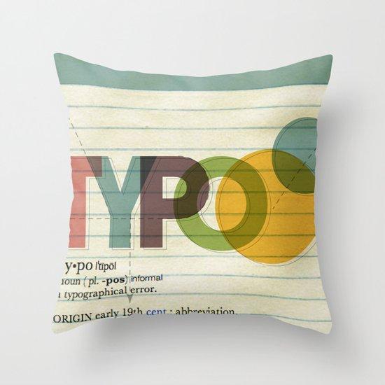 typo Throw Pillow