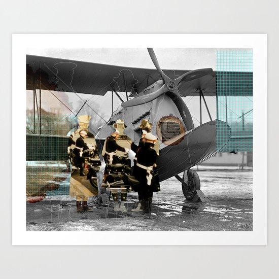 Flying 4 Collage Art Print