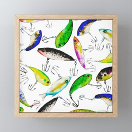 Fishing is Fly Framed Mini Art Print