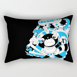 Desu~!!: Blue Rectangular Pillow