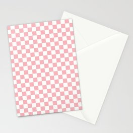 Squares Neck Gaiter Light Pink Checkerboard Neck Gator Stationery Cards