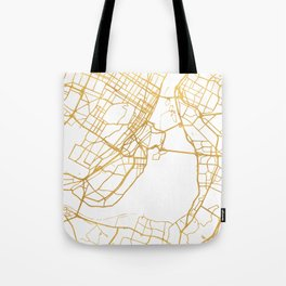 MONTREAL CANADA CITY STREET MAP ART Tote Bag