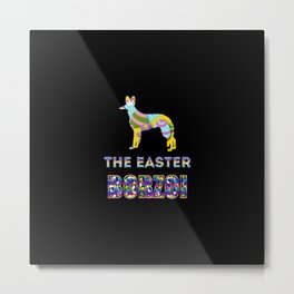 Borzoi gifts | Easter gifts | Easter decorations | Easter Bunny | Spring decor Metal Print
