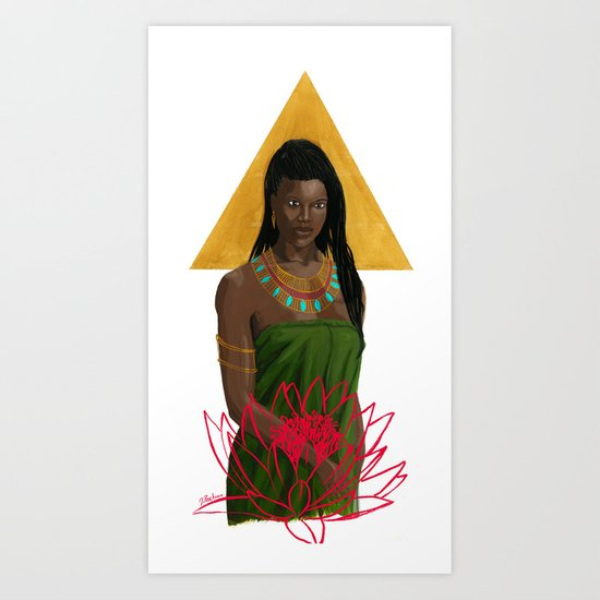 Egyptian Lotus Art Print