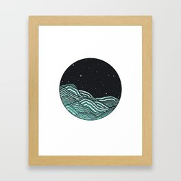 Night Ocean Framed Art Print