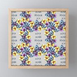 BALI0 BLUE pat. Framed Mini Art Print