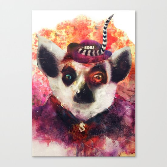 Lemur ( The Pimp Le-Mur ) Canvas Print
