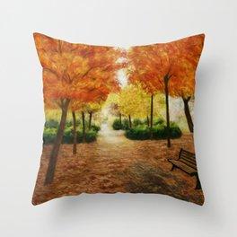 Levice Park Throw Pillow