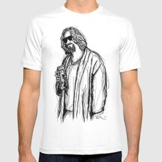 The Dude Mens Fitted Tee White LARGE