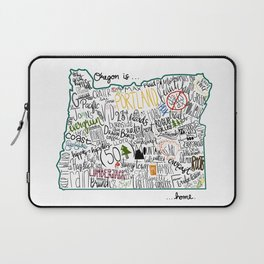 Oregon is where the heart is Laptop Sleeve