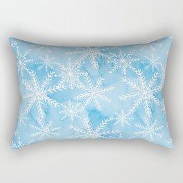 Blue Snowflakes #2 Rectangular Pillow