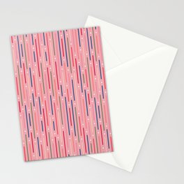 Colourful Lines 3 Stationery Cards