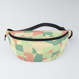 Checkered green and salmon Fanny Pack