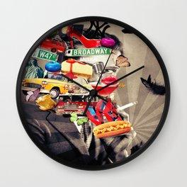 New York Devoted Wall Clock
