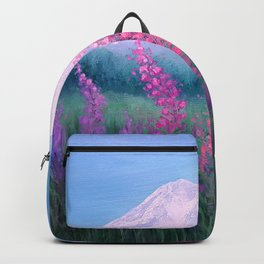 Fireweed Phenomenon on Mount Rainier Backpack