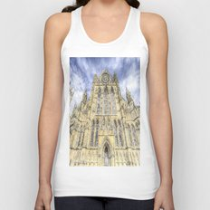York Minster Cathedral Snow Art Unisex Tank Top