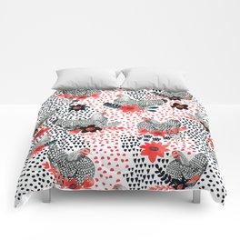 Wyandotte Chickens Comforters