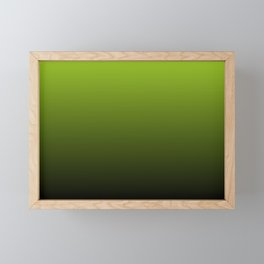Ombre | Lime Green and Charcoal Grey Framed Mini Art Print