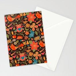 Funny khokhloma pattern Stationery Cards