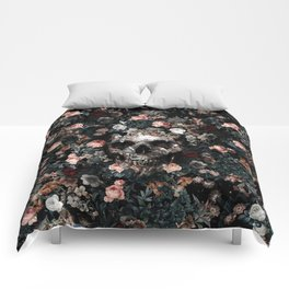 Skull and Floral pattern Comforters
