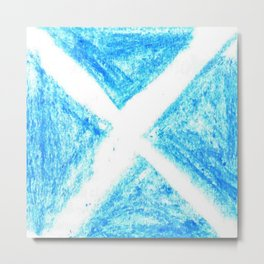 flag of scotland 7– scotland,scot,scottish,Glasgow,Edinburgh,Aberdeen,dundee,uk,cletic,celts,Gaelic Metal Print