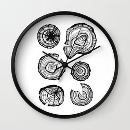 Tree stumps Wall Clock