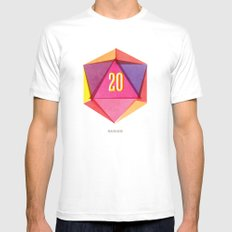 Rolling D20's Like A Big Shot  MEDIUM White Mens Fitted Tee
