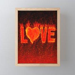 Hot Love Framed Mini Art Print