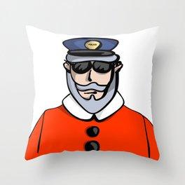 Santa Cop Throw Pillow
