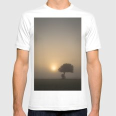 Tree in the Fog Mens Fitted Tee White MEDIUM