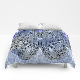 paisley star in royal blue Comforters