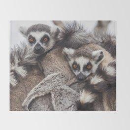 Lemur catta animals Throw Blanket