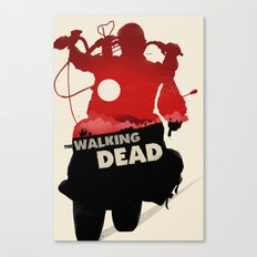 Daryl Dixon - Red and Black Canvas Print