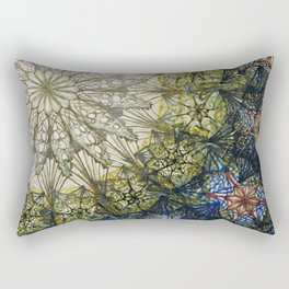 stained glass window detail Rectangular Pillow