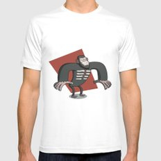 Caesar - Dawn of the Planet of the Apes Cartoon Mens Fitted Tee MEDIUM White