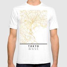 TOKYO JAPAN CITY STREET MAP ART White Mens Fitted Tee MEDIUM