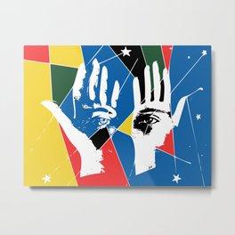 Mystic Hands Vintage Graphic Design Art Decoration Metal Print