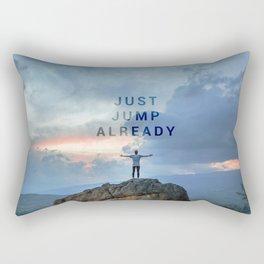 Just Jump Already Rectangular Pillow