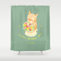Happy Meowther's Day Shower Curtain
