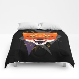 Ferocious Geometric Fox Comforters