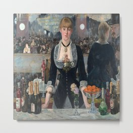 Edouard Manet's A Bar at the Folies-Bergere Metal Print
