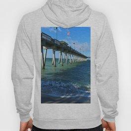 Fishing Pier on Venice Beach - Venice Florida Hoody
