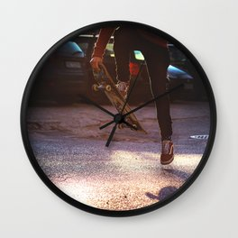 cave  in Wall Clock