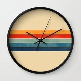 retro stripes Wall Clock