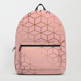 Pink and Gold Geometry 011 Backpack