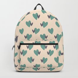 Twin Hearts Repeated Pattern 076#001 Backpack