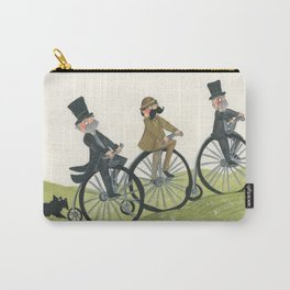 3 gentleman on a bike ride in the countryside Carry-All Pouch