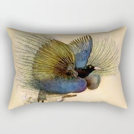 """The Beautiful Bird of Paradise"" Art by Warwick Goble Rectangular Pillow"